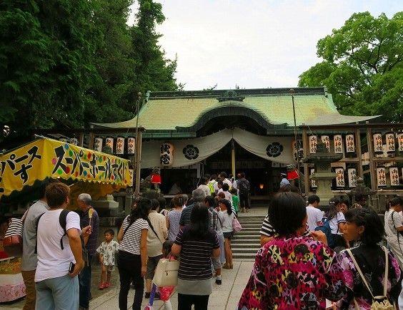 茨木神社夏祭り本殿