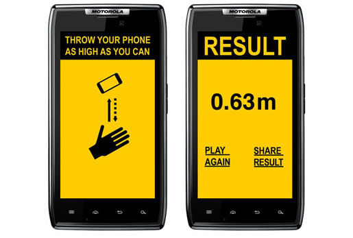 【アカン!】スマホを空高く投げて、その高さを競うゲームアプリが登場って超危険!!
