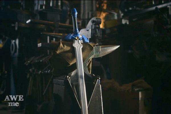 """""""プロの鍛冶屋""""が『ゼルダの伝説』に登場するマスターソードを本気で作ってみた!"""