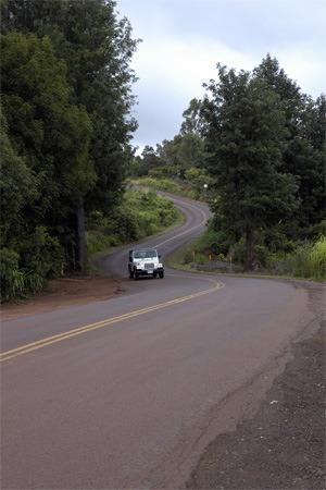 ワイメア渓谷への道
