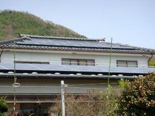 太陽光設置後