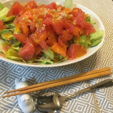 グレープフルーツとキヌアのサラダ