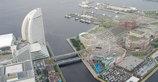 横浜ランドマークタワー展望フロアから撮影
