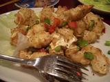 タラバガニの山椒炒め