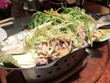 泰式明爐蒸魚(タイ式蒸し魚)