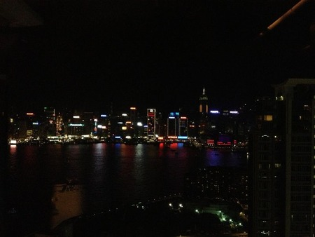 個室からの夜景