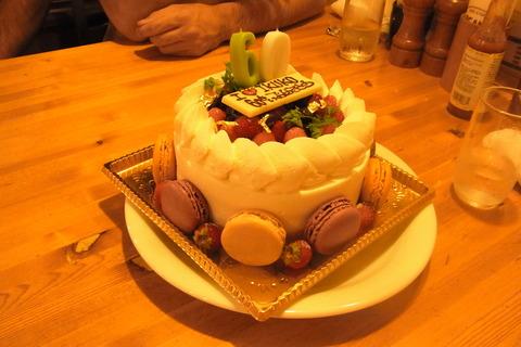 60歳のケーキ
