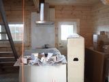 搬入されたキッチン