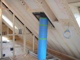 傾斜天井断熱材施工状況