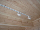 リビング天井のレール照明