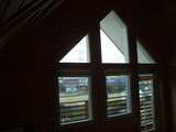 2階主寝室からの光