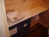 トイレ内カウンターと手洗い