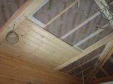 断熱材ー防湿シートー天井板