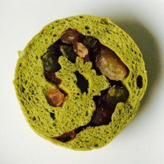4種の甘納豆入り抹茶ベーグル