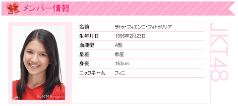 JKT48   メンバー情報   ラトゥ・フィエンニ・フィトゥリリア