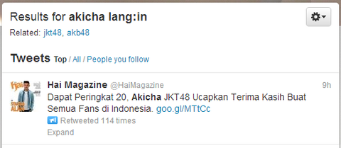 Twitter   Search   akicha lang in