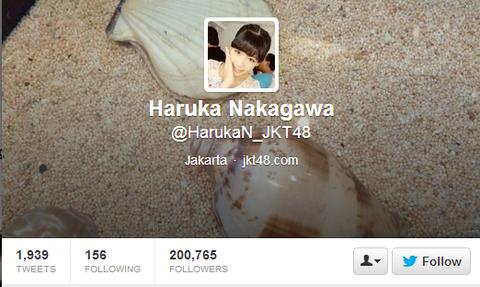 Haruka Nakagawa  HarukaN_JKT48  on Twitter