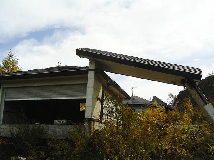 有珠山噴火遺構 家屋