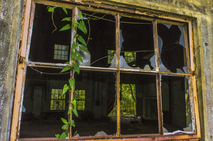 府中基地窓