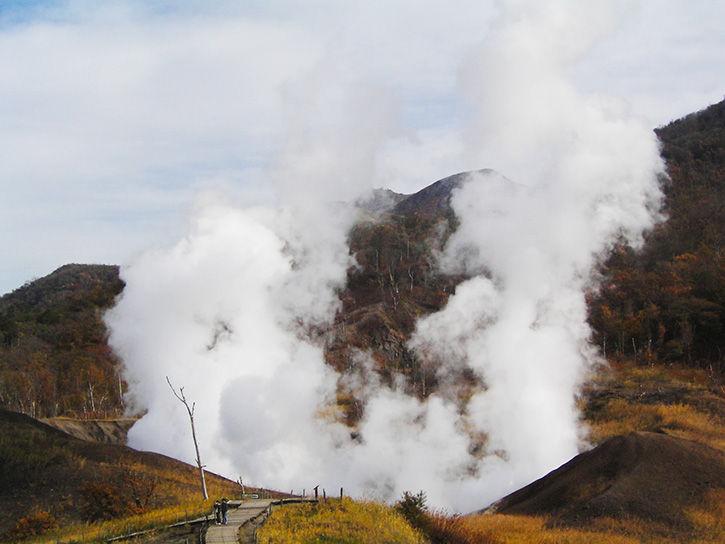 洞爺湖遺構 噴気