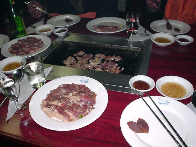 北朝鮮観光 鴨料理