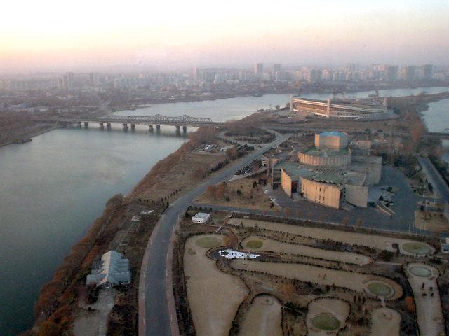北朝鮮観光 ホテルからの眺め