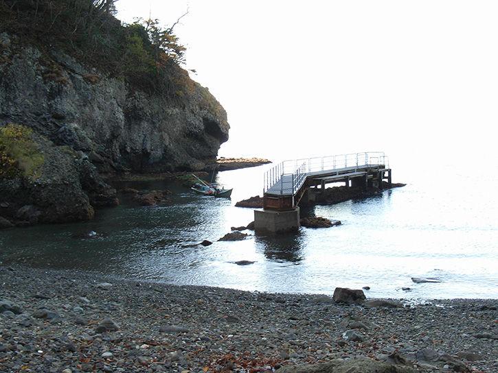 小幌駅 船