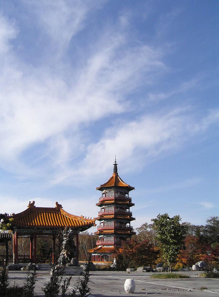 天華園 五重の塔