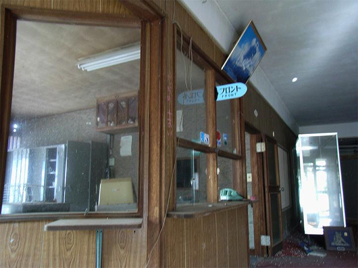 白鳥湖ホテル フロント入り口