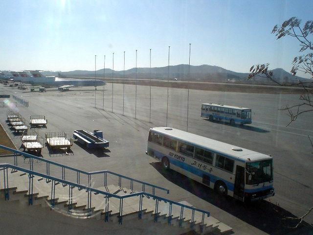 北朝鮮観光 平壌空港