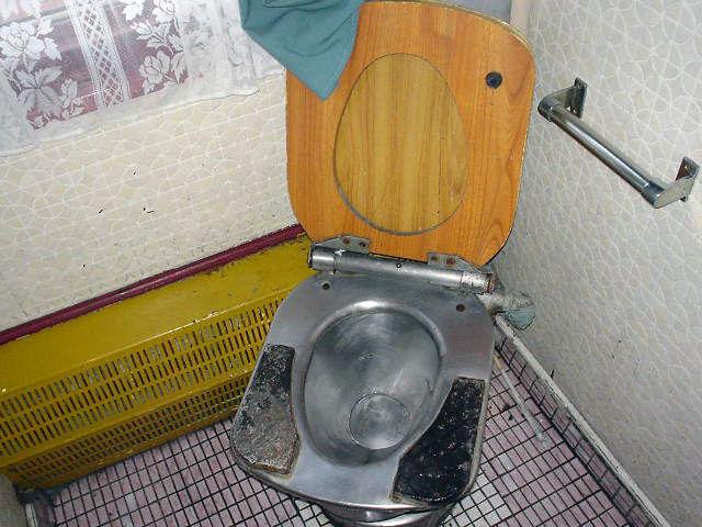 北朝鮮観光 列車内トイレ