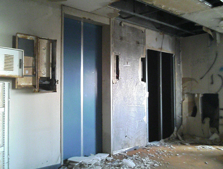 ホテルニュージャパン 9階エレベーター