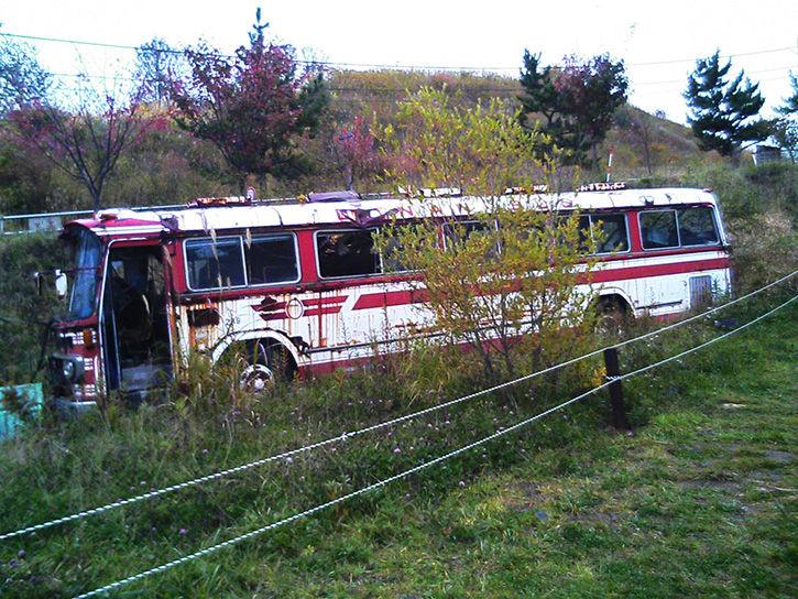 有珠山噴火遺構 バス左