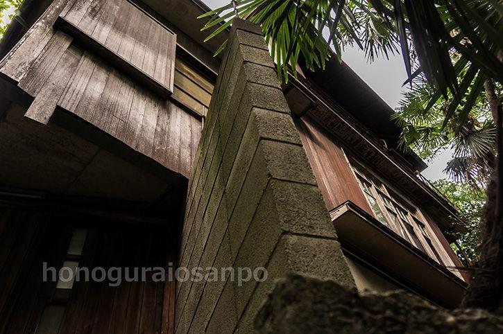 石階段 ブロック塀