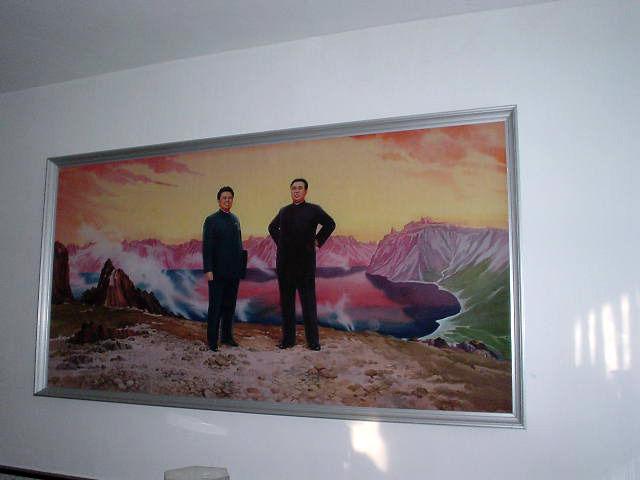 北朝鮮観光 絵