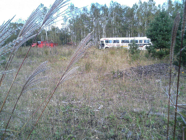 消防車とハトバス