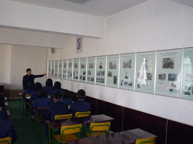 北朝鮮観光 壁