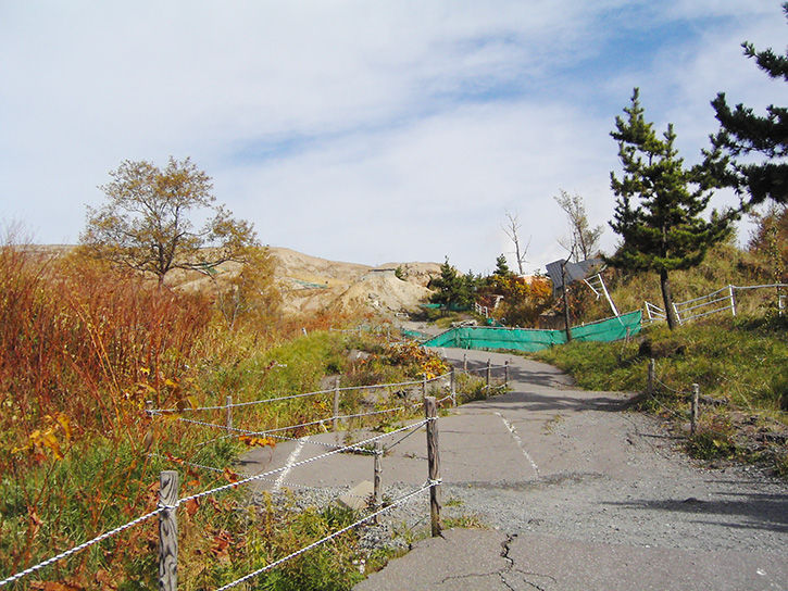 有珠山噴火遺構 柵