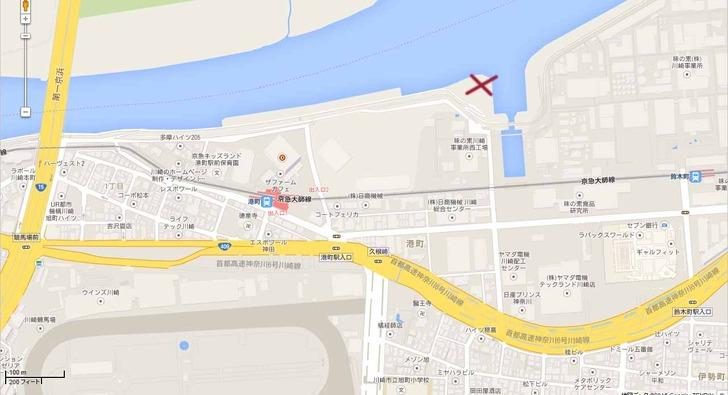 川崎事件現場地図