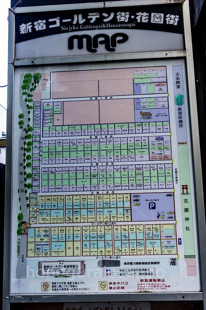 ゴールデン街-地図