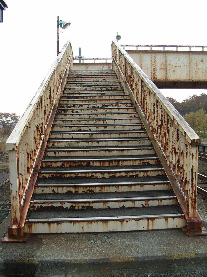 上厚内駅 階段