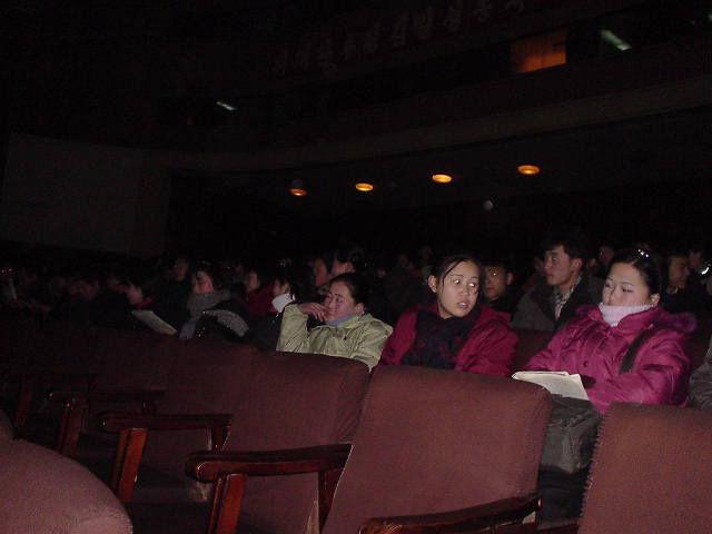 北朝鮮観光 劇場内