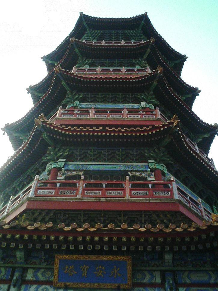 天華園 見上げる塔