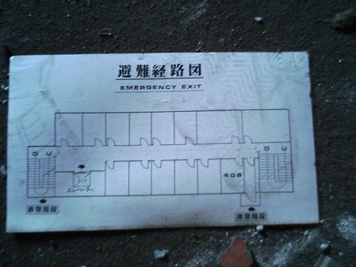 ホテルニュージャパン 4階避難経路