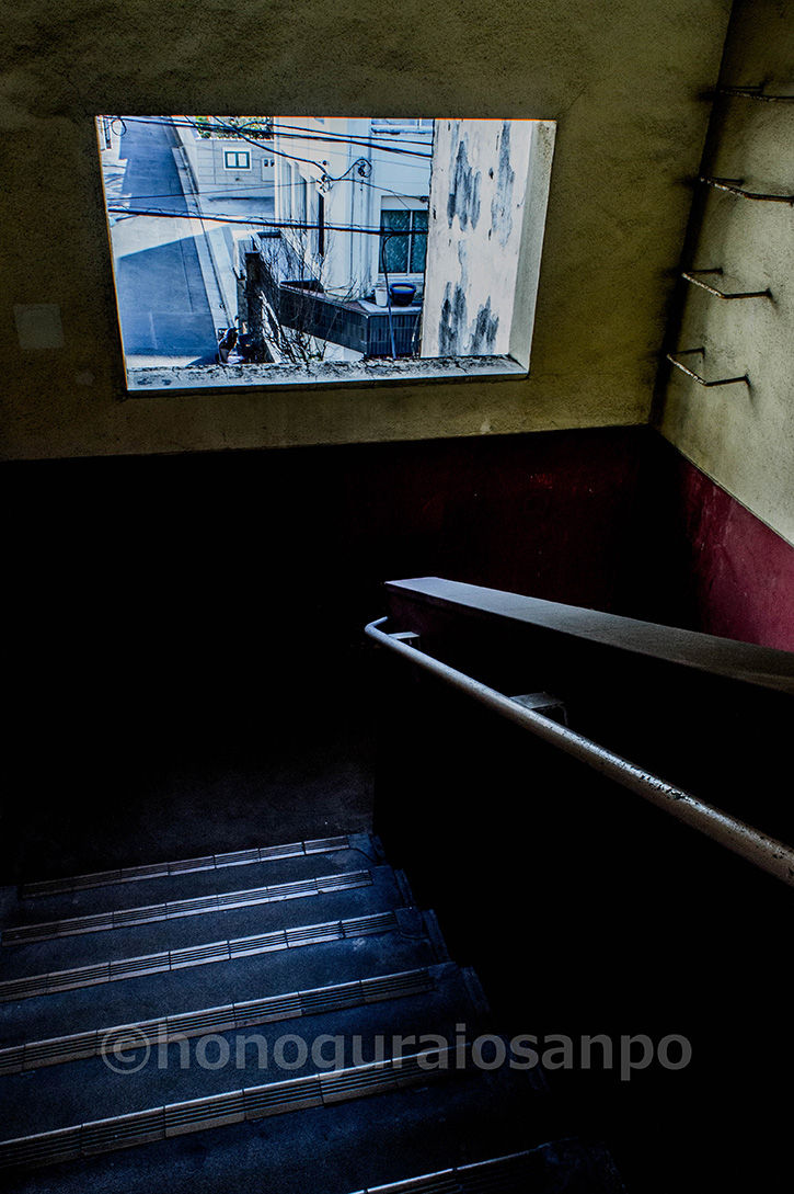 霞ケ丘団地 外苑マーケット階段