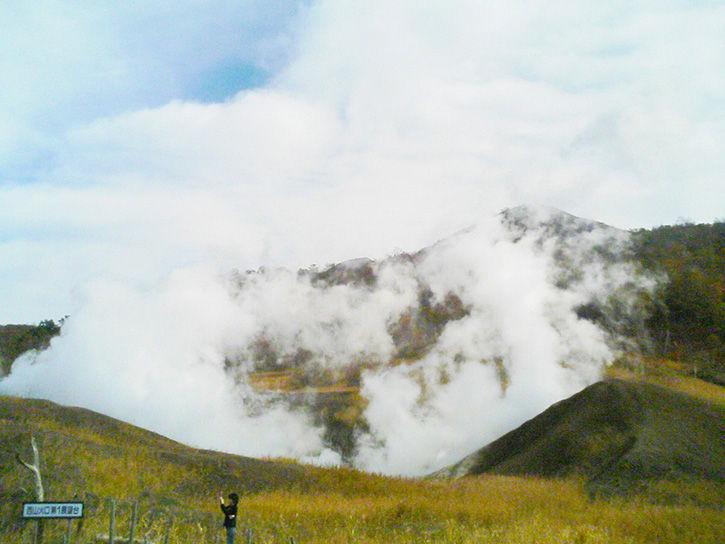 洞爺湖遺構 噴気2