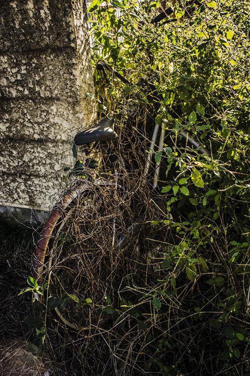つつじヶ丘 廃アパート 廃自転車