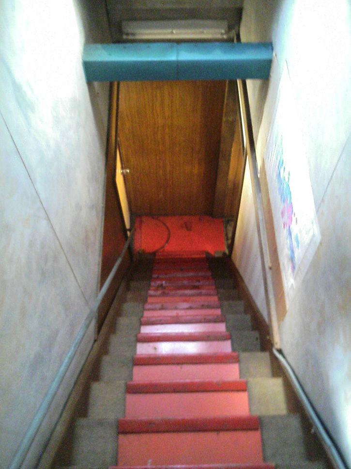 夕張 赤階段