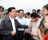 現地入りした胡錦濤・国家主席