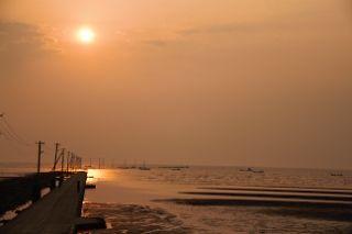 御輿来海岸の夕焼け